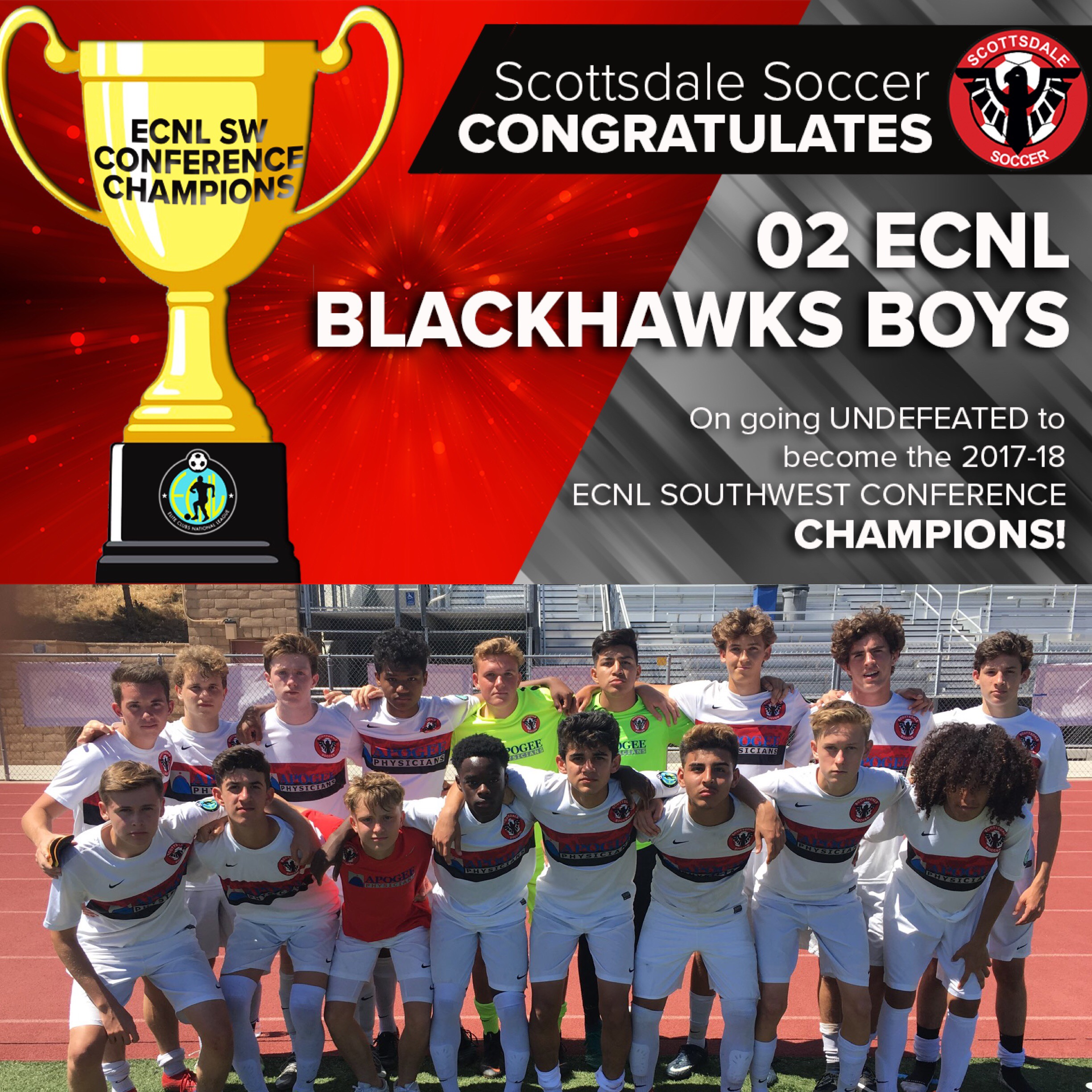 02 Boys ECNL - Southwest Conference CHAMPIONS!