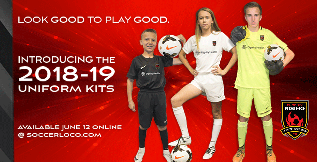 Phoenix Rising Youth Uniforms - NOW LIVE!